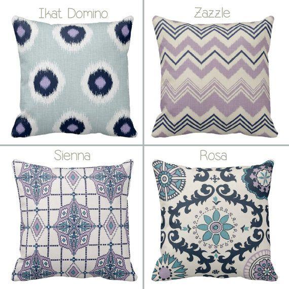 Zippered Navy Lavender White And Grey Throw Pillow Covers Chevron Ikat Purple White Drew Slub 1 Grey Throw Pillows Throw Pillows Grey Chevron
