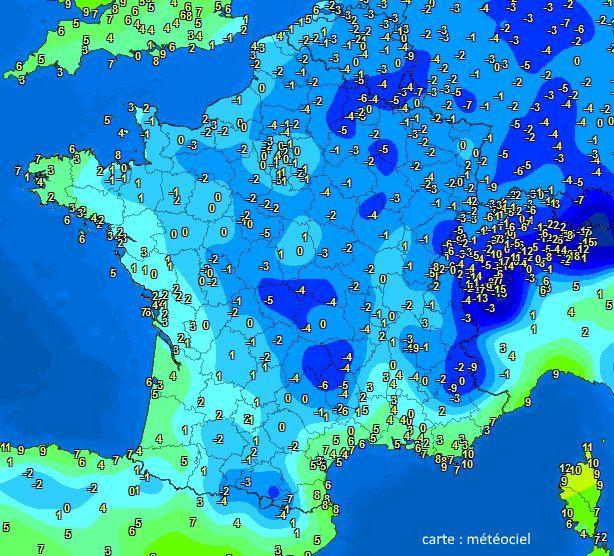Froid piquant ce jeudi matin 6°C  Charleville 5°C  Guéret