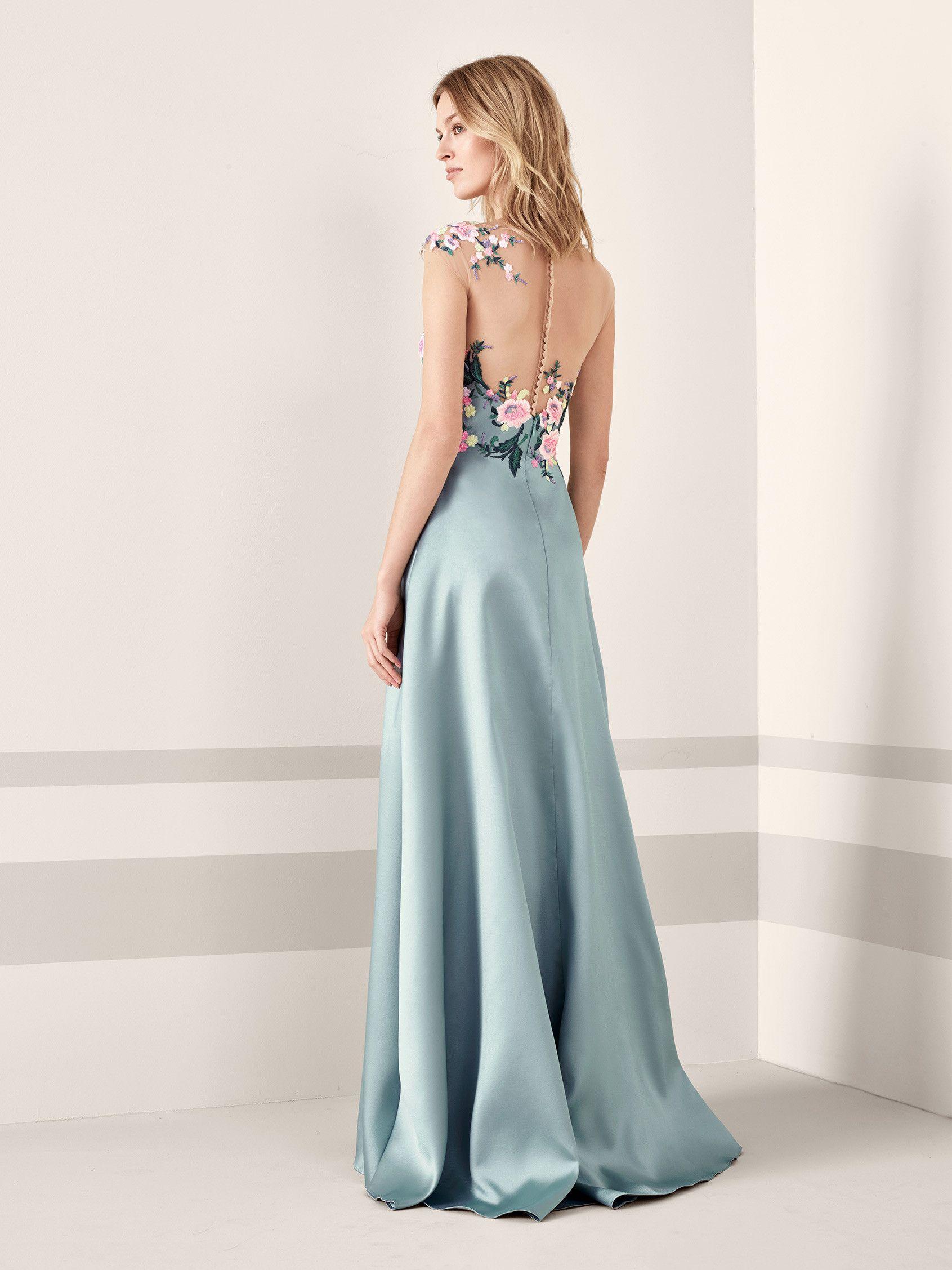 Vestido de fiesta con estampado de flores JANIRA | Pronovias | Marta ...