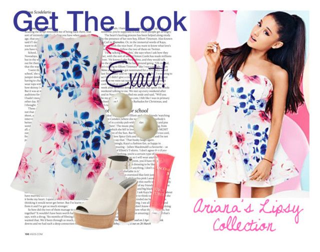 """Get The Look - Ariana Grande"" by nerd-ville ❤ liked on Polyvore featuring ASOS, Lipsy, Rebecca Minkoff, Carolee, Lancôme and ArianaGrande"