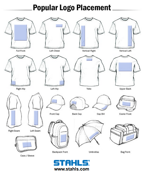 Logo Placement Guide: Tshirt Fundraiser IEA Ideas