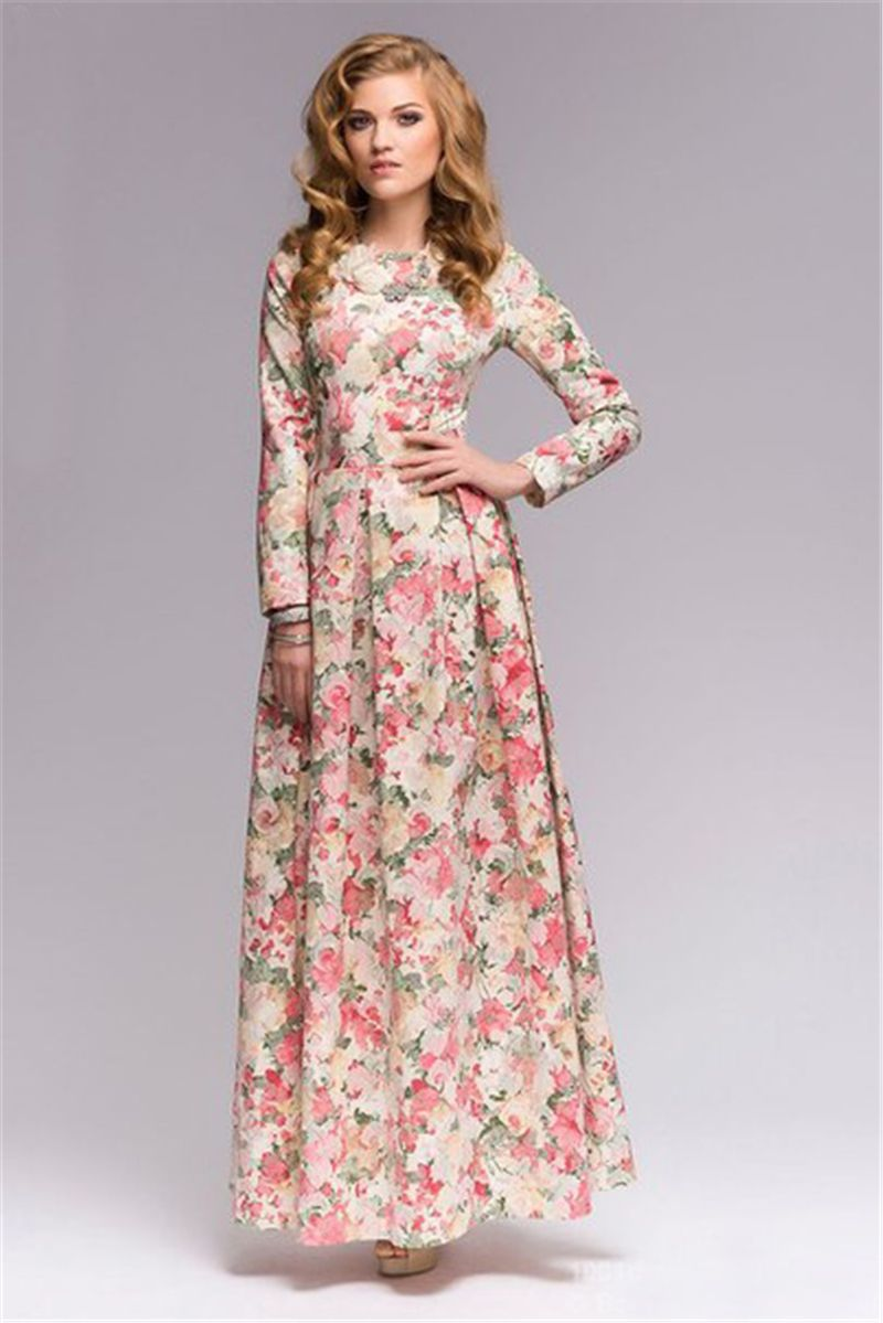 Vintage-Women-Summer-Long-Maxi-Dress-Bohemian-A-Line-Floor-Length ...