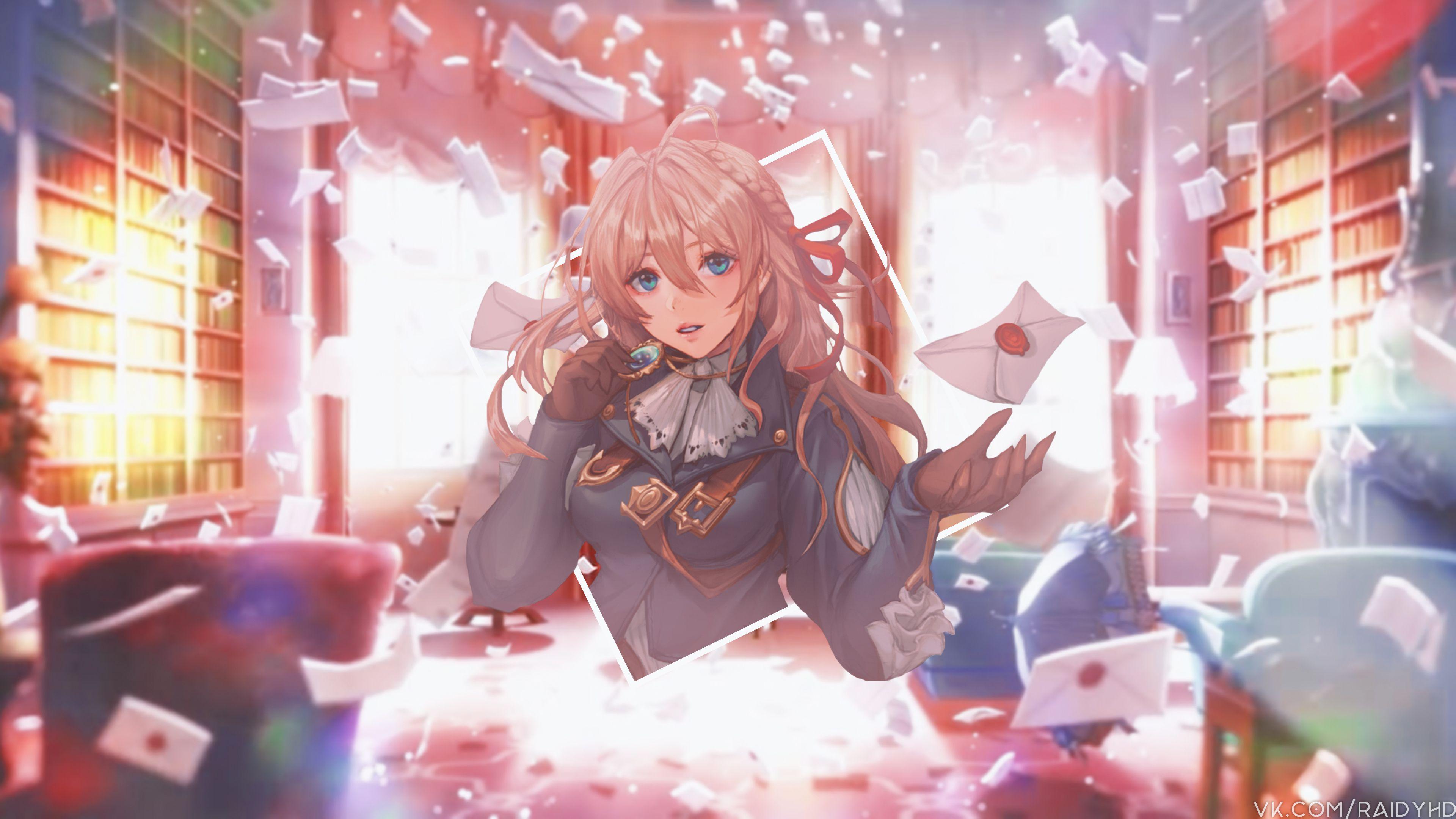 4k Violet Evergarden Anime Violet Evergarden Wallpapers Hd