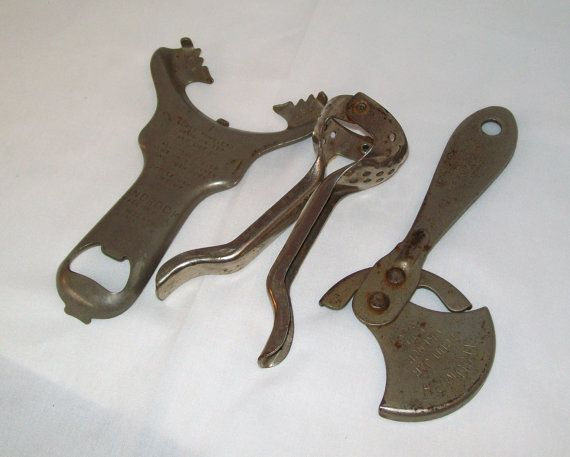 Antique Vintage Kitchen Tools Utensils Jar Openers Juicer Bar Accessories