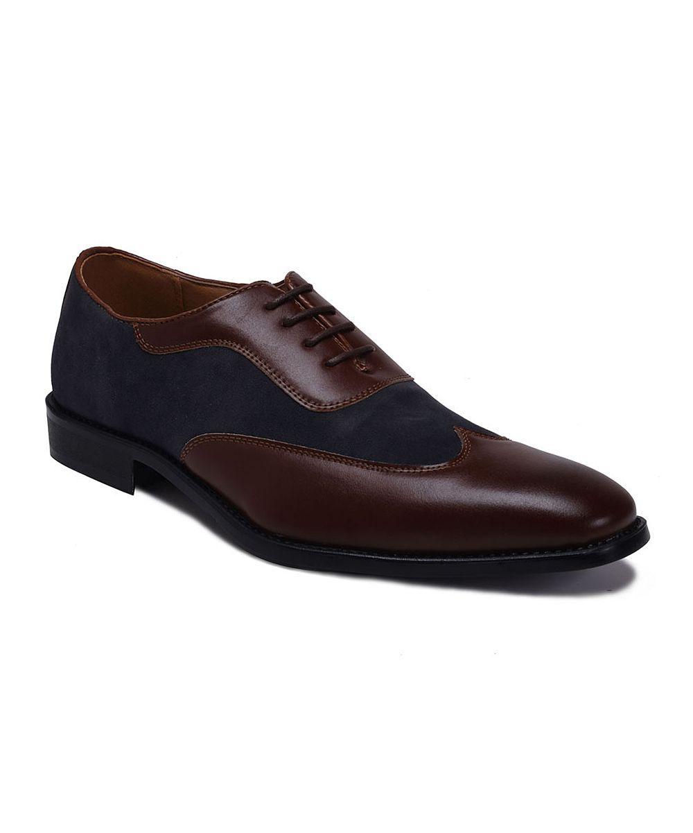 409e40f1aa46c Brown & Navy Contrast Oxford Men Dress, Dress Shoes, Contrast, Oxford Shoes,