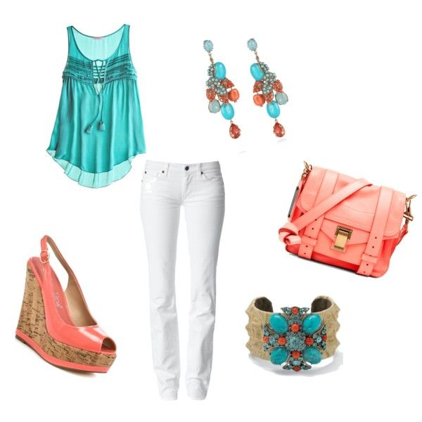 love turquoise & coral!