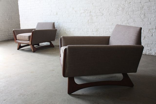 Remarkable Adrian Pearsall Mid Century Modern Lounge Club Chairs For Craft  Associates (U.S.A.,1960s