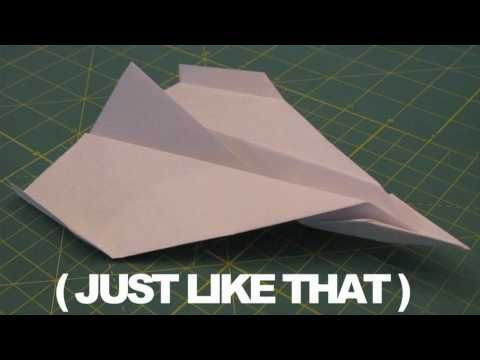 How to make the worlds best paper airplane! - YouTube