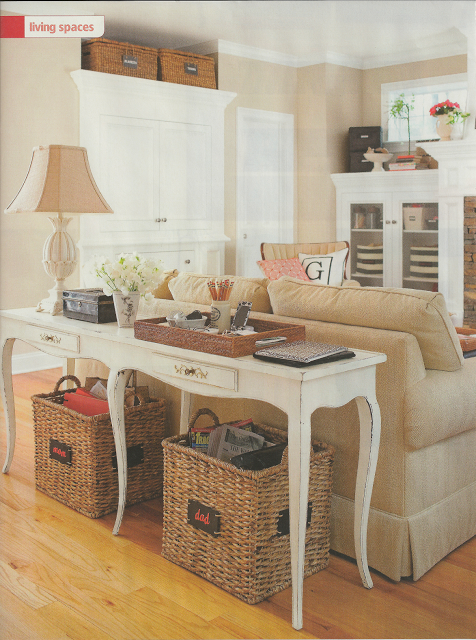 25 Ways To Decorate A Console Table Family Friendly Living Room
