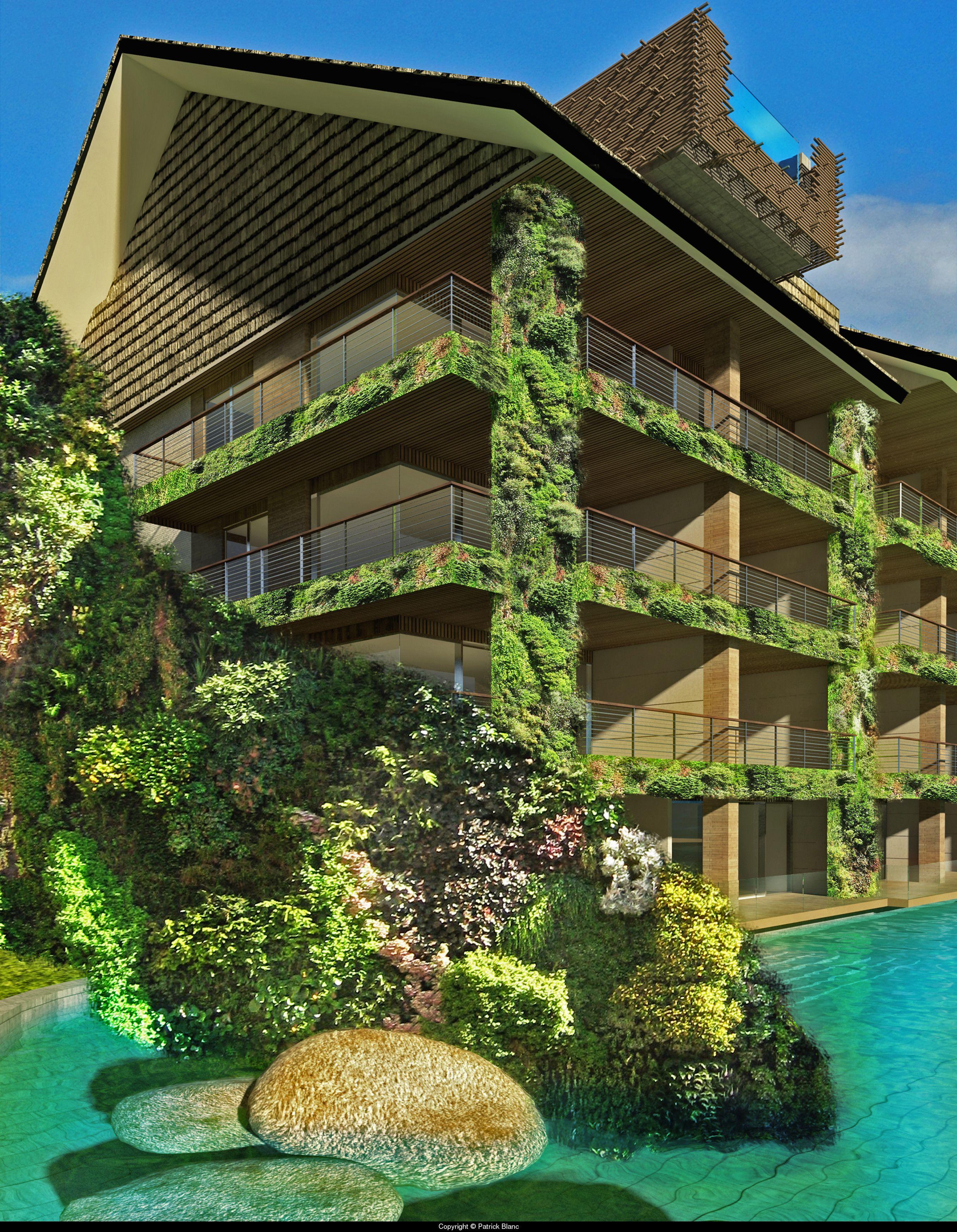 Smart green walls that maintain views too sea sentosa bali