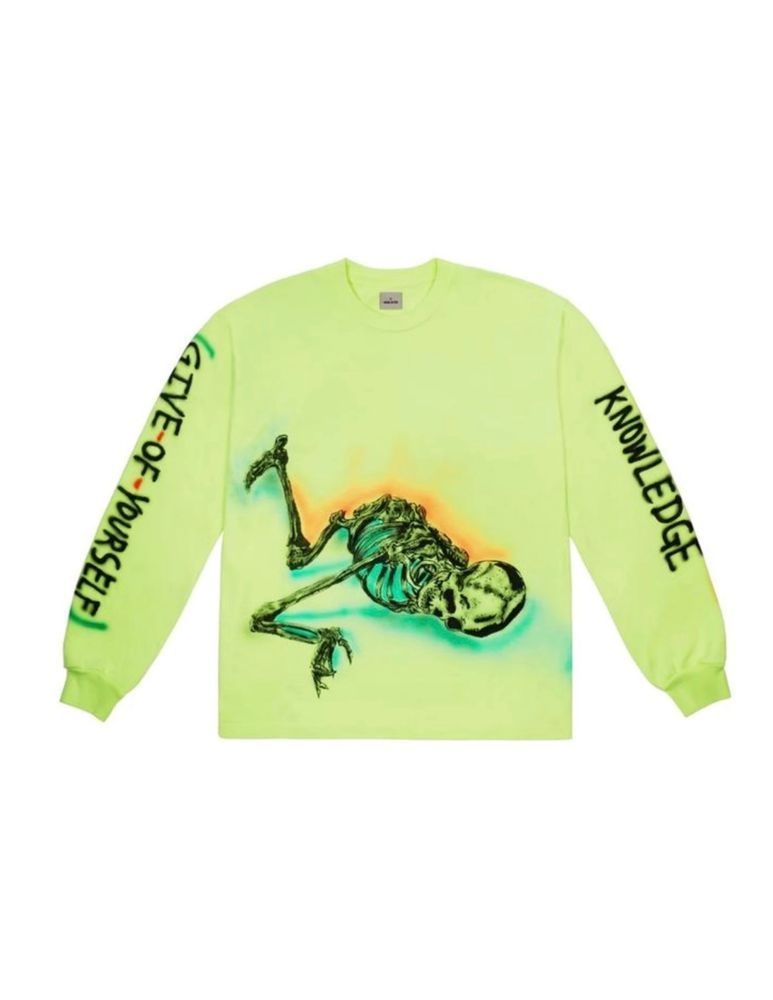 official photos 3470e 29986 Yeezy Wes Lang Skeleton Long Sleeve Tee Frozen Yellow- SMALL  fashion   clothing  shoes  accessories  mensclothing  shirts (ebay link)