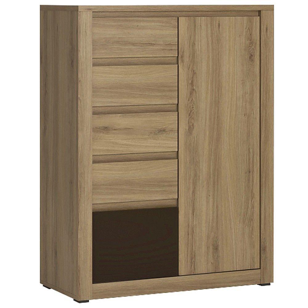 Furniture To Go 1 Door 5 drawer cupboard oak