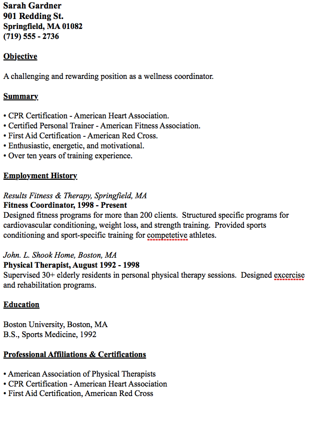 example of wellness coordinator resume http resumesdesign com