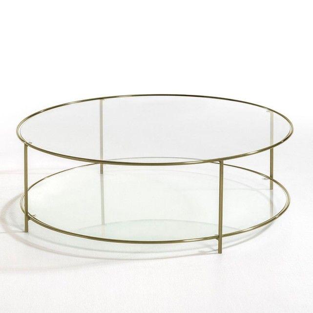 Table basse ronde verre trempé Sybil