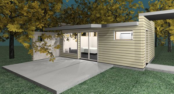 Prefab passive solar green homes green modern kits for Sip garage kits