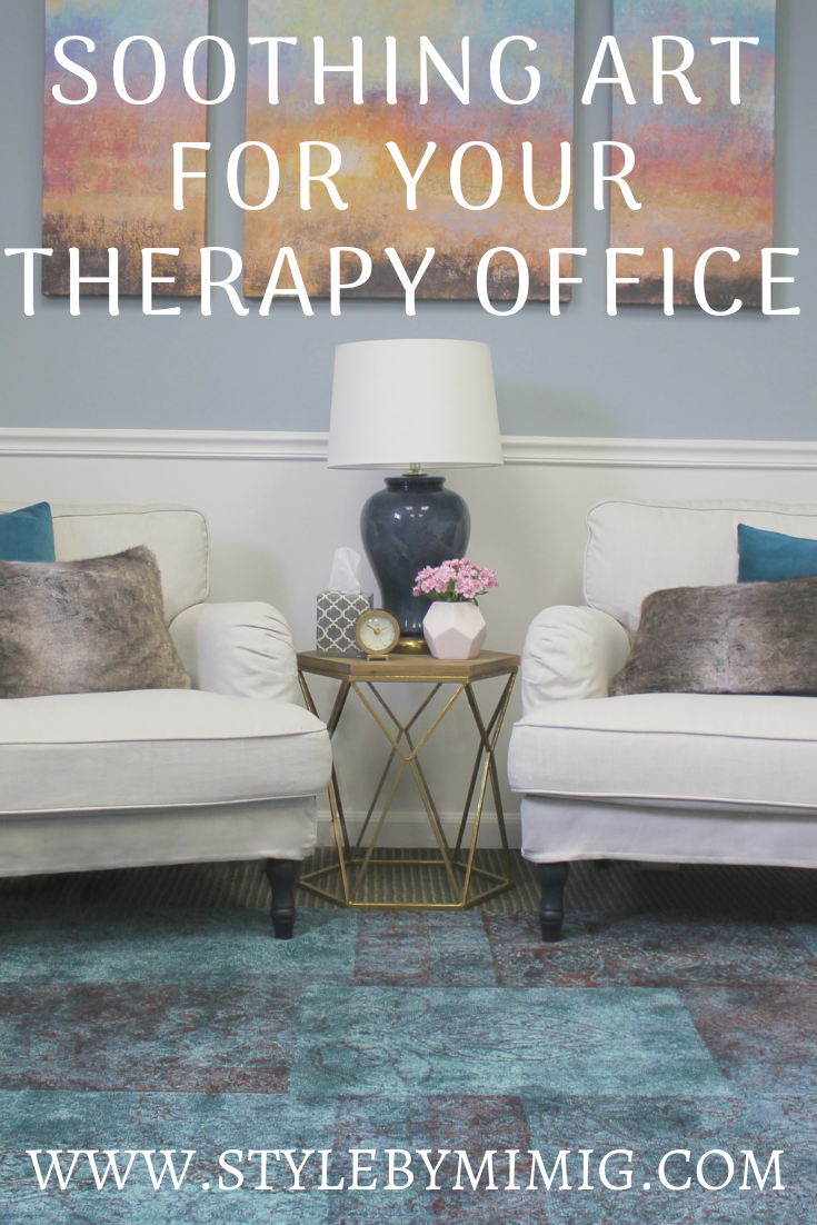 relaxing wall art for your therapy office therapy office on soothing colors for office id=88501