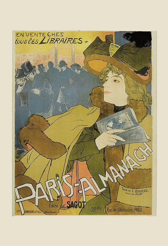 Antique Art Nouveau Poster Fine Art Print Belle Epoque Poster Paris ...