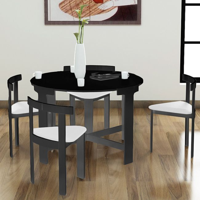 Perfect For Small Spaces The Nordic Midnight Dinette Set Comes Amazing Dining Room Table Sets For Small Spaces Design Inspiration