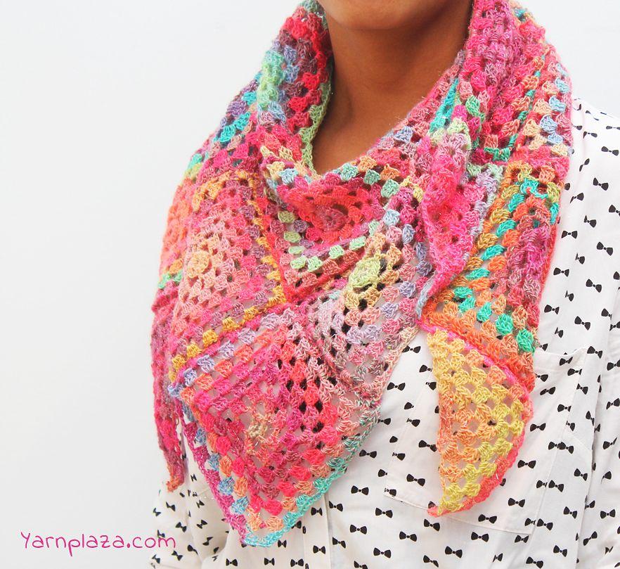 Mille Colori Summer Scarf By Yarnplaza - Free Crochet Pattern ...