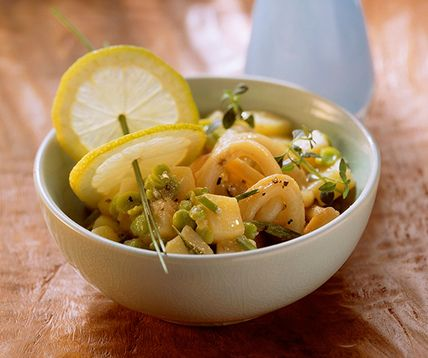 Salade de pommes de terre aux calamars