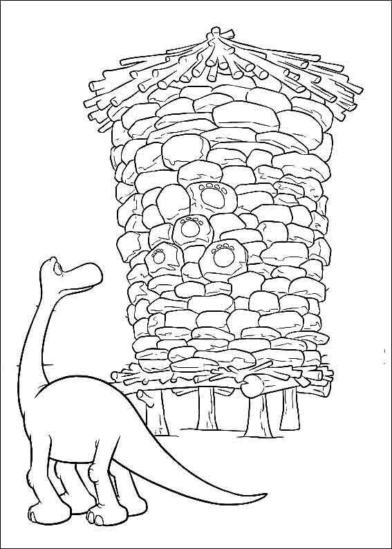 Desenhos Infantis Para Colorir Do O Bom Dinossauro