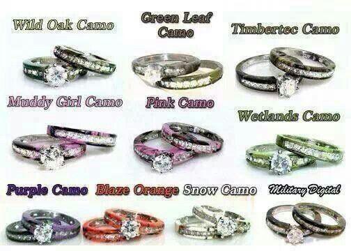I Want The Muddy Girl Camo Camo Wedding Rings Camo Wedding