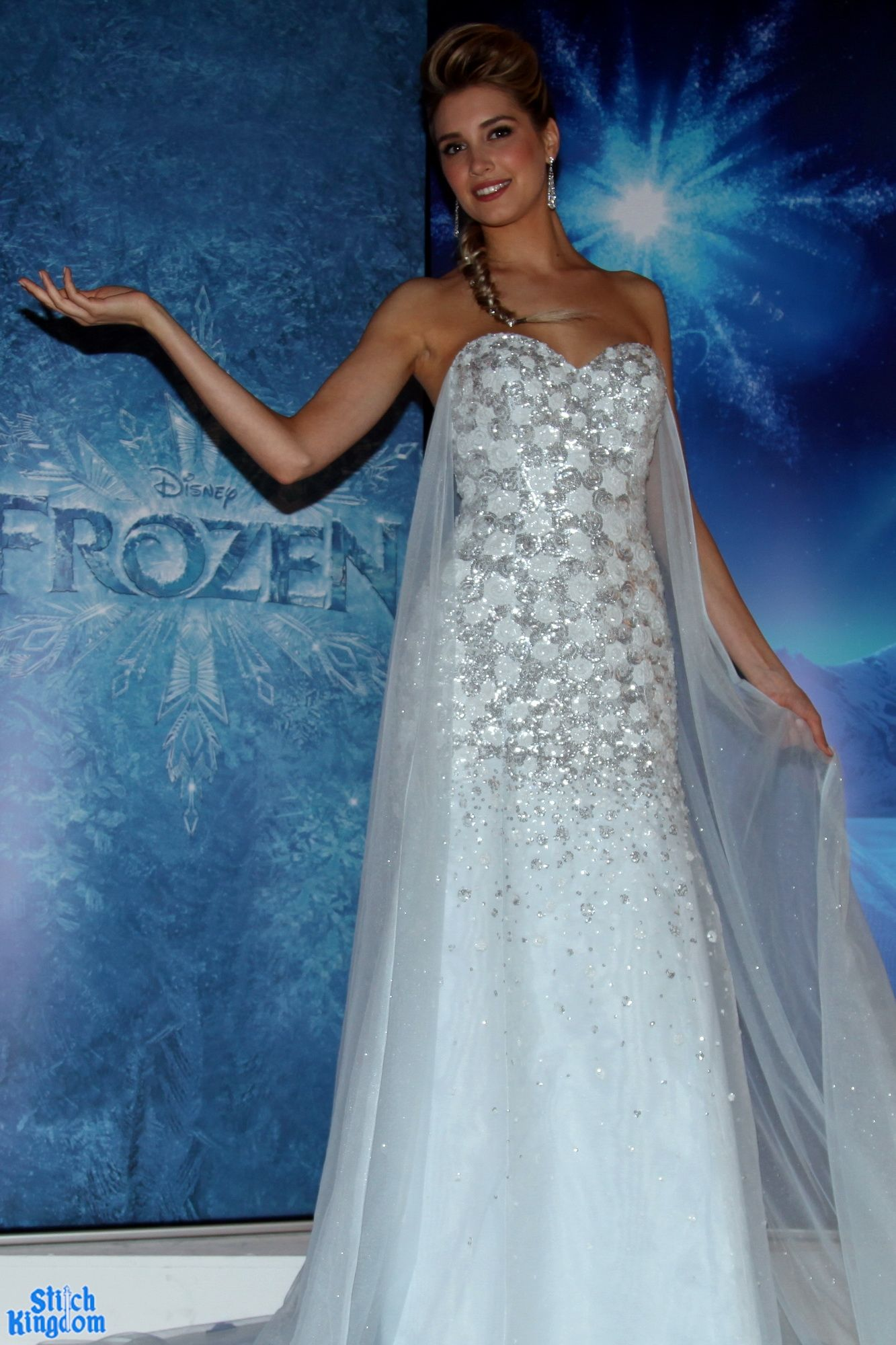 cinderella inspired wedding dress PHOTOS VIDEO Elsa Wedding Dress by Alfred Angelo Debuts at