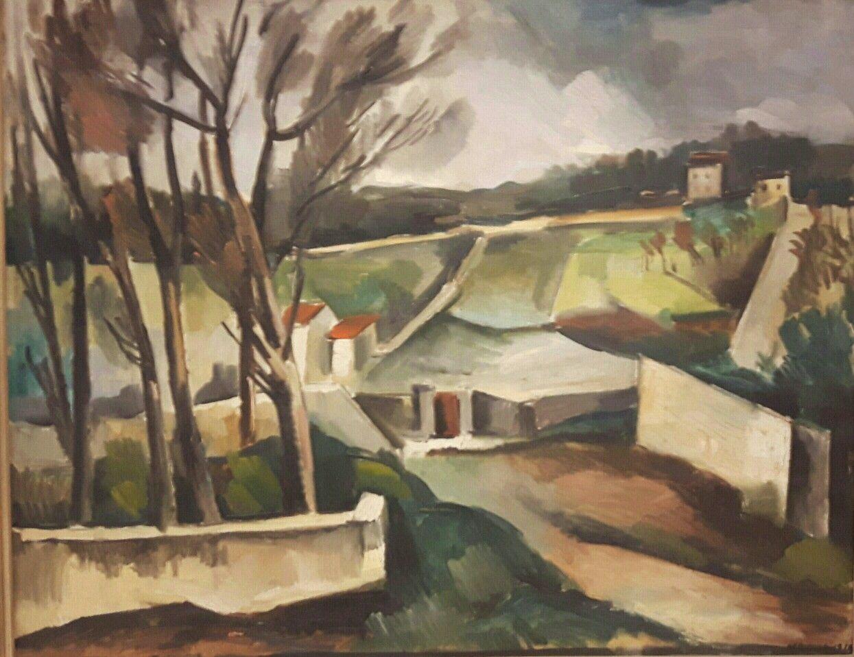 Strada verso il villaggio.  1914. Praga Narodni Galerie