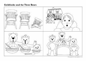 Top 10 Free Printable Goldilocks And The Three Bears Coloring