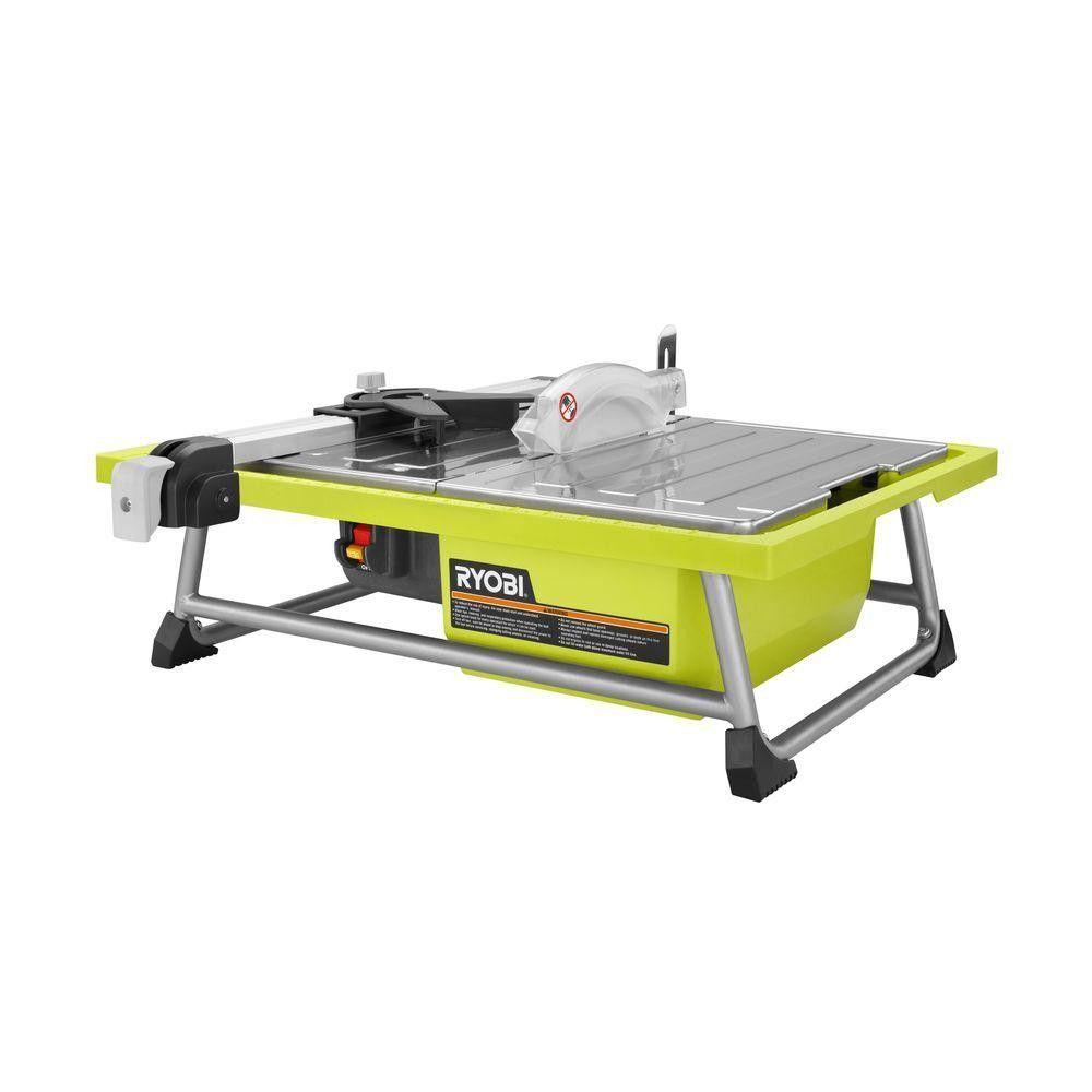 Ryobi Ws722 7 Tabletop Tile Wet Saw Tile Saw Tiles Stainless Steel Table