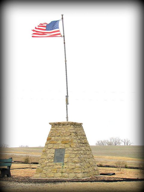Center of the USA - Near Lebanon KS           Our friend, Joe Cheeseman, lives here. He & his wife helped to put this park & monument together.