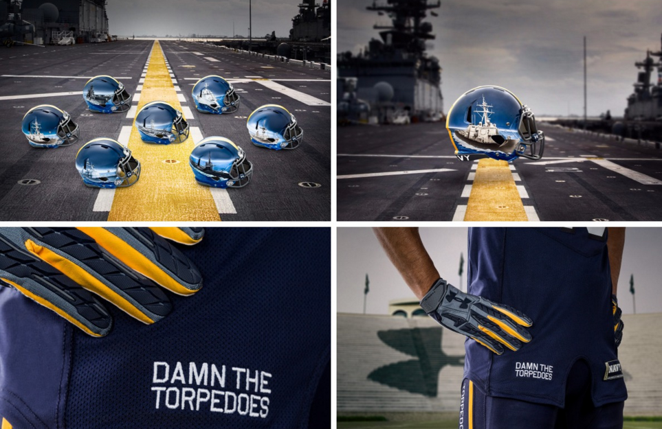 Navy's Under Armour Uniforms For The ArmyNavy Game Are
