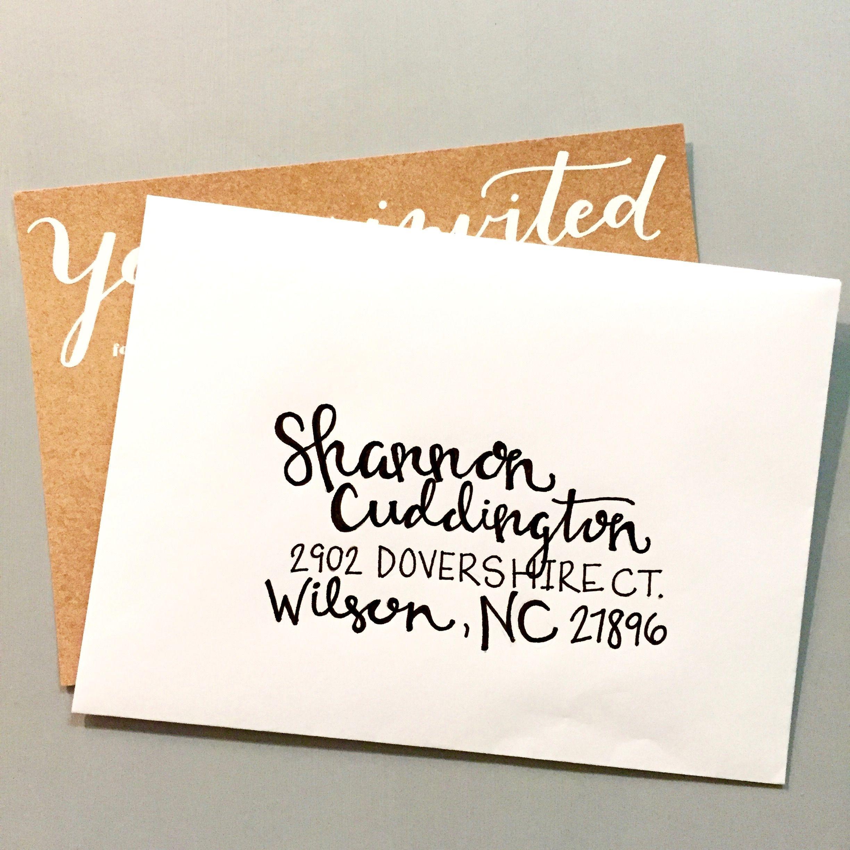 Hand Lettering | Custom Lettering | Wedding Invitations | Envelope ...