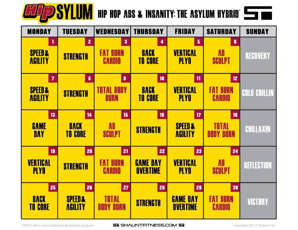 Hip Hop Abs And Asylum Hi Brid Workout