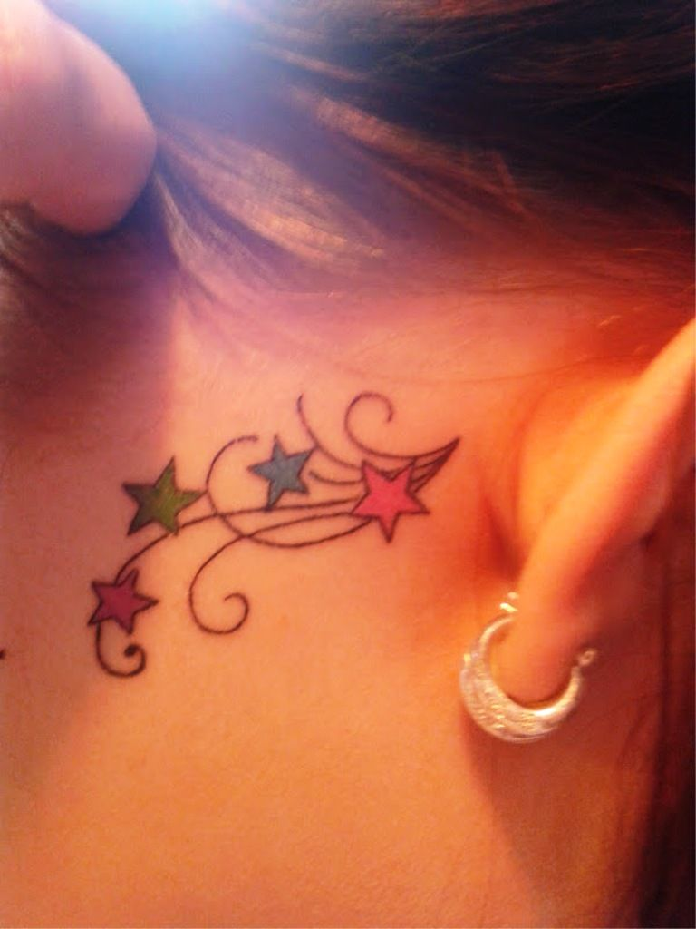 Tattoo design behind ear - 10 Small Ear Tattoos For Women