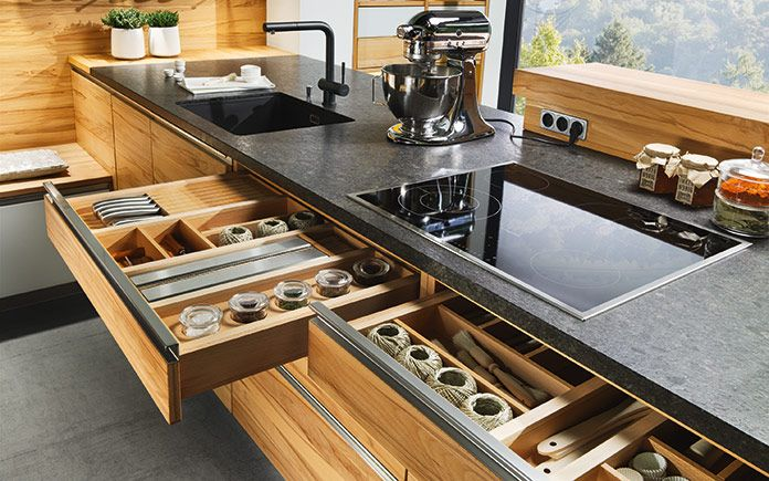 Kitchen Ideas For Small Or Large Kitchens.  #kitchen #kitchendesigns #kitchenideas #kitchenisland #smallkitchendesign #kitchendesigner #kitchendecor #team7 #sebastiendesch #luxury #luxurytoday #homedecor