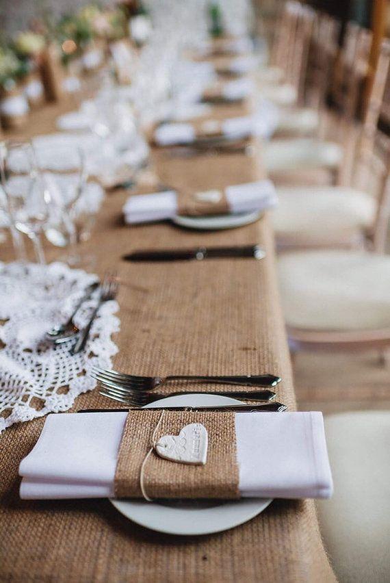 Kundenspezifische Hochzeits-Gedeck   Lehm-Herz-Hochzeits-Umbauten   Personalisie