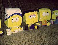 Criação de Toy Art Simpsons.