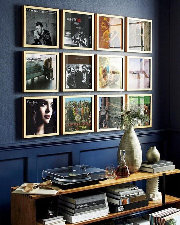 Photo of music room gallery wall