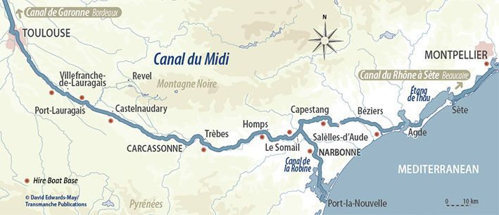 The Canal du Midi French waterways rivers and canals Canal du