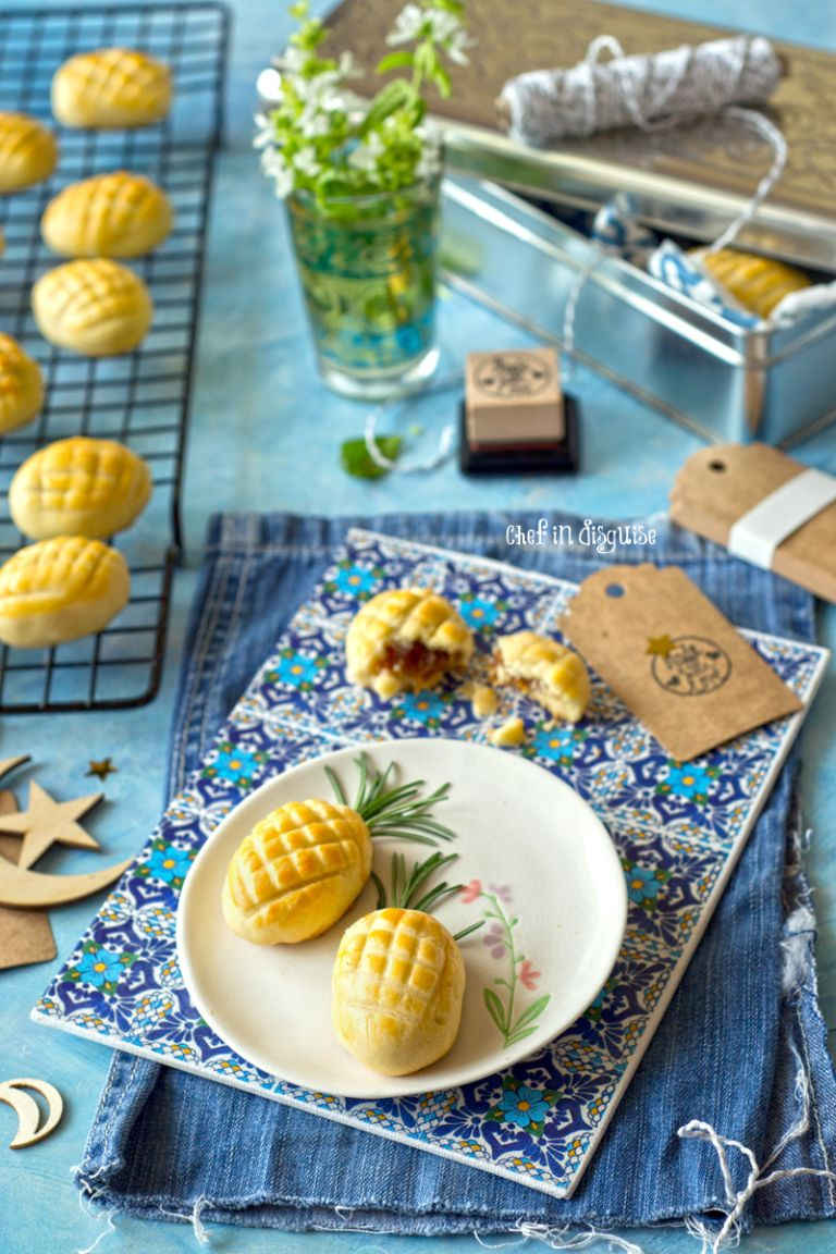 Nastar cookies, melt in your mouth crust with a fresh and sweet pineapple filling.jpg