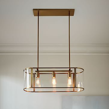 Trough chandelier flushmount westelm