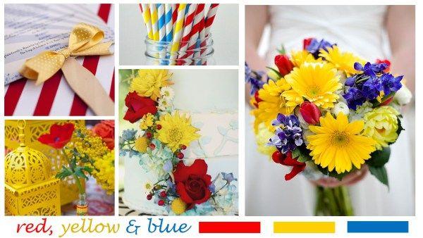 Red yellow blue wedding inspiration pinterest weddings red yellow blue wedding inspiration mightylinksfo