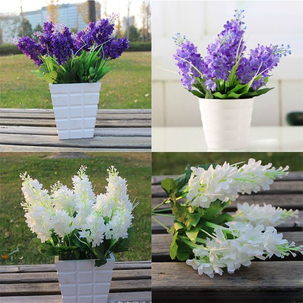 hot lovely dark purple 5 heads artificial fake hyacinth flower bedroom home office cafe hotel party decor - Purple Hotel Decor