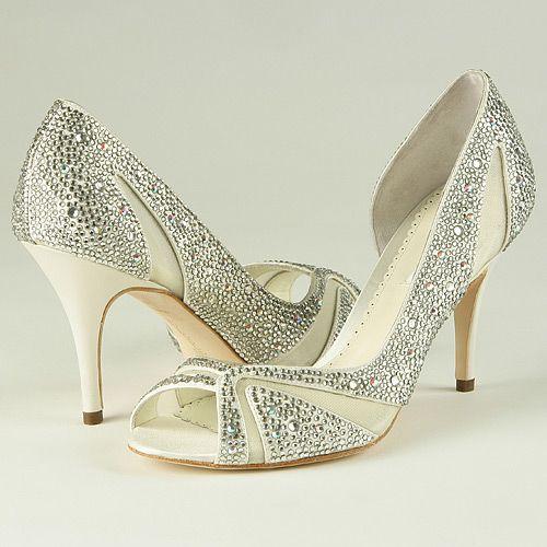 a7c4a2ac0 ivory crystal bridal shoes