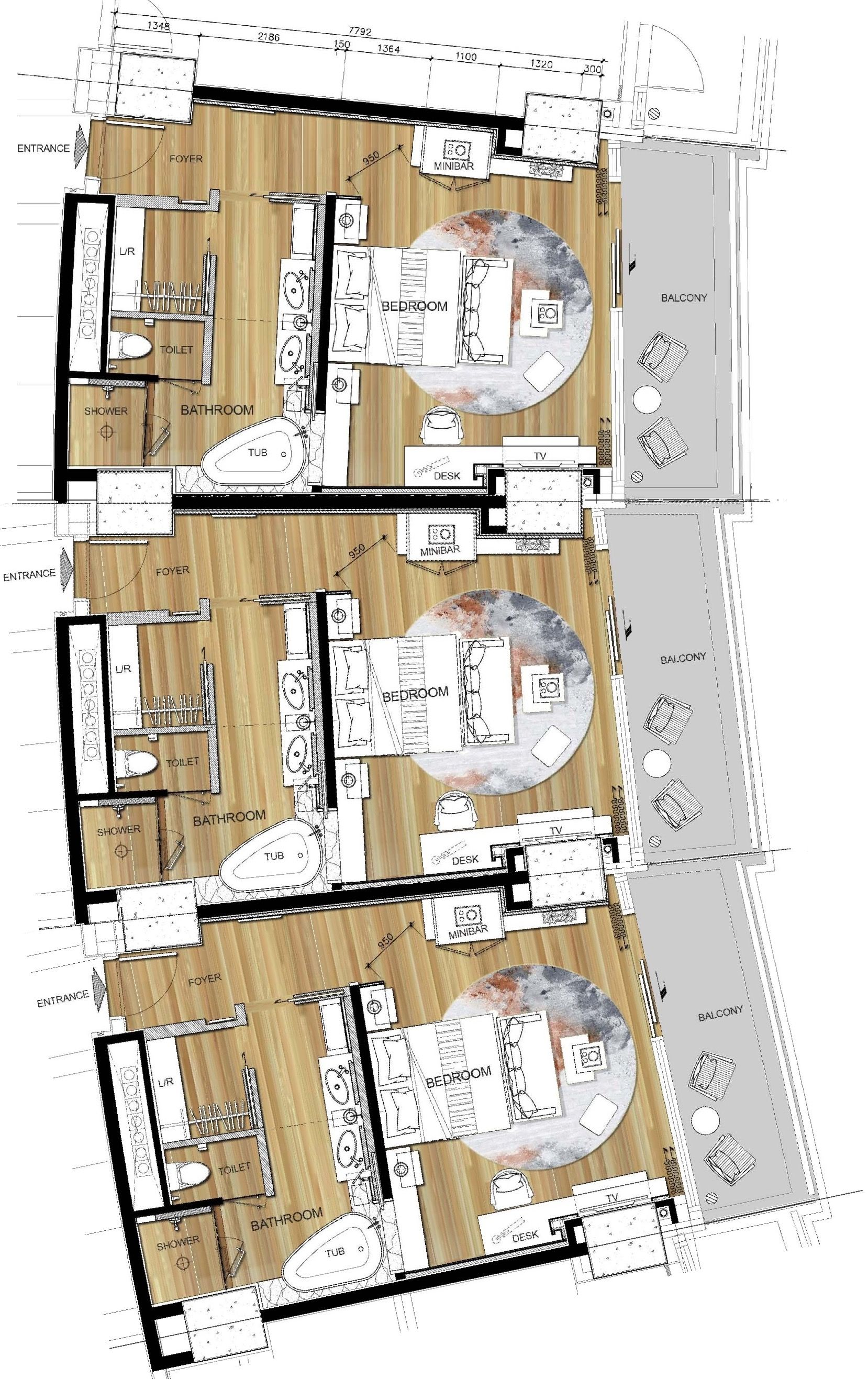 Hualuxe haikou hainan house plan pinterest planos for Arquitectura de hoteles