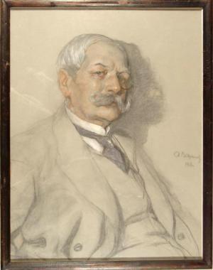 Портрет художника Ф.В.Дмоховского. Рисунок