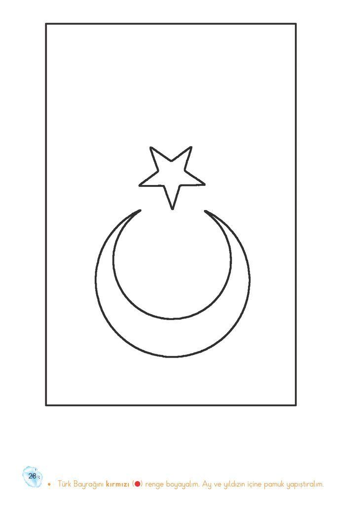 Ay Ve Yildiz Boyama Sayfalari Ile Ilgili Gorsel Sonucu Coloring Pages Symbols Drawings