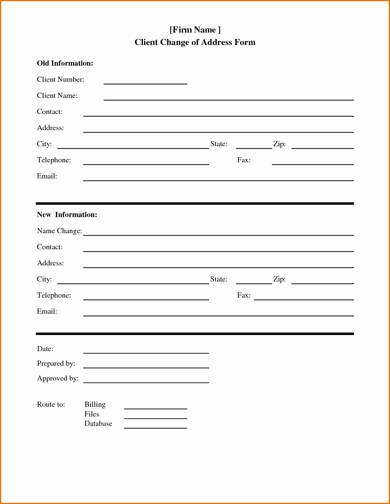 Change Address Form Template Lovely Ideas Template Letter