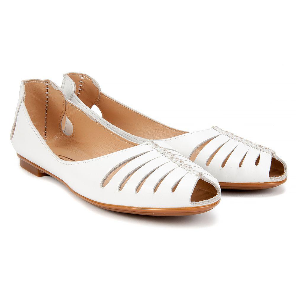 Baleriny Lanqier 38c1148 Biale Baleriny Buty Damskie Filippo Pl Shoes